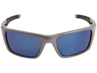 Oakley Jury Distressed Silver Ice Blue Iridium Sunglasses