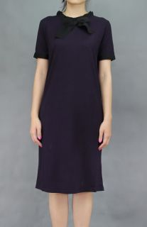 Lanvin 11AW Female T Shirt Grois Grain Jersey Dress