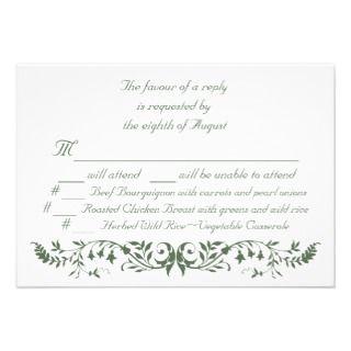Catholic Wedding Set Response Card Template CC Invites