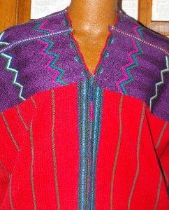 Vntg Hippie Chic Woven Frida Kahlo Zunil Guatemalan Huipil Tunic Top