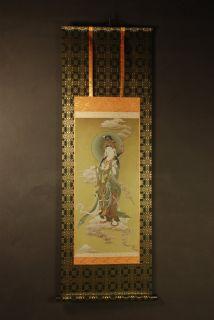 High Grade Buddhism Scroll Kannon Avalokitesvara