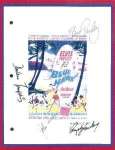 Blue Hawaii Signed Script rpt Elvis Presley Angela Lansbury