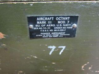 Vintage Original WW II Aircraft Octant Pioneer Instrument Mark III