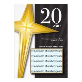 Customizable 20 Year Church Anniversary Announcement