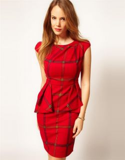 BNWT Karen Millen Tailored Dress with Peplum Size 12 UK 10 AU