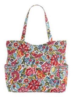 Vera Bradley Pleated Tote Bag Luggage Carnaby Hope Garden Bali Blue