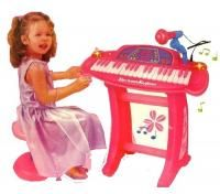 Keyboard Piano Toy Game Girls Kids Learn Record Play Sing Microphone