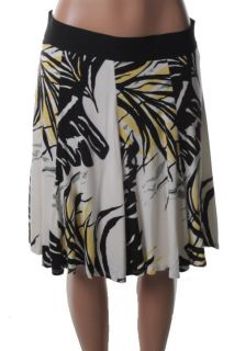 Karen Kane New Multi Color Printed Elastic Waist A Line Skirt L BHFO