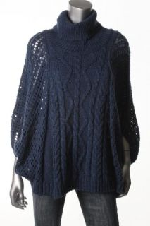 Karen Kane New Blue Cable Knit Oversized Cowl Neck Pullover Sweater XL