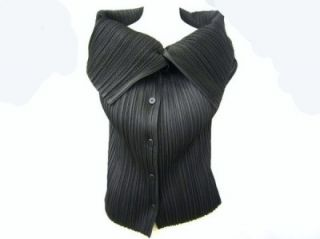 ELEGANT ISSEY MIYAKE PLEATS PLEASE DRESS JACKET SHIRT BLOUSE TOP 3/M