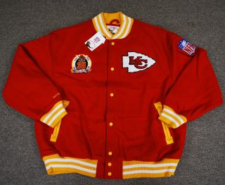 Kansas City Chiefs Mitchell Ness Wool Jacket 56
