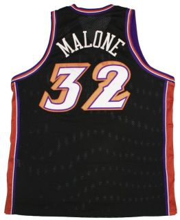 Karl Malone Authentic Throwback NBA Utah Jazz Jersey 52