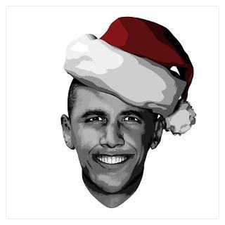 Wall Art  Posters  Obama Santa Claus Poster