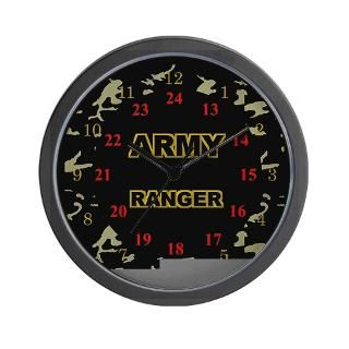 Army Wife 24 Hour Military Time Clock by brigadebydesign