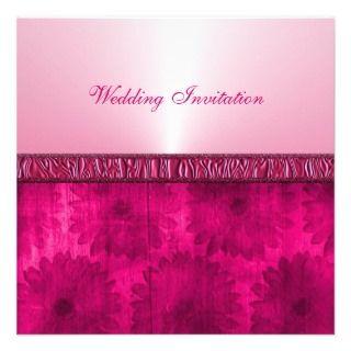 Pink Floral Modern Luxury Invitations