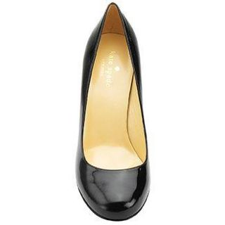 Kate Spade Black Patent Leather Wood Heels Shoes Pumps