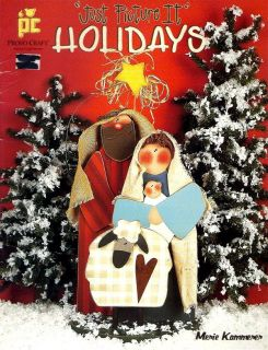 Tole painting pattern book, JUST PICTURE IT HOLIDAYS by Merie Kammerer