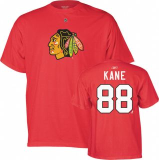 Patrick Kane Youth Red Reebok Player Name and Number Chicago