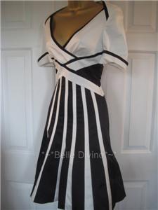 Karen Millen Black White Diamante Bow Sandals 7 40
