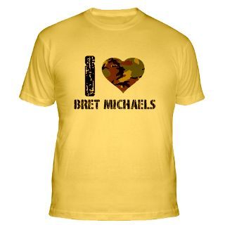 Love Bret Michaels T Shirts  I Love Bret Michaels Shirts & Tees
