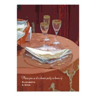 Elegant Table Dinner Party Invitation