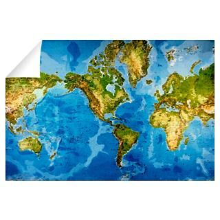Wall Art  Wall Decals  World map Wall Decal