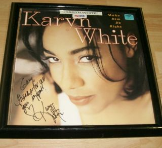 Karyn White Signed Framed Music Promo PSA DNA COA