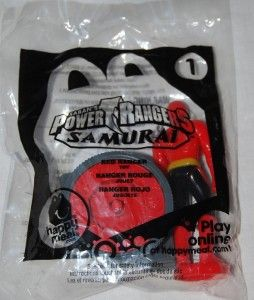 McDonalds 2011 Power Rangers Samurai Red Ranger 1 Toy