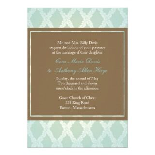 Diamond Green Classic Wedding Invitation