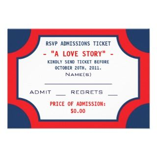 Movie Marquee Themed Wedding Party Invitation