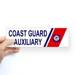 USCG Auxiliary Stripe Bumper Sticker 2  Coast Guard Auxiliary