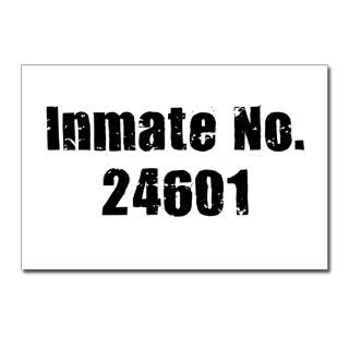 Inmate Number 24601 Postcards (Package of 8) for $9.50