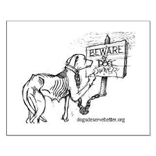 size 16 5 x 13 7 view larger starving dog makes sign small poster by