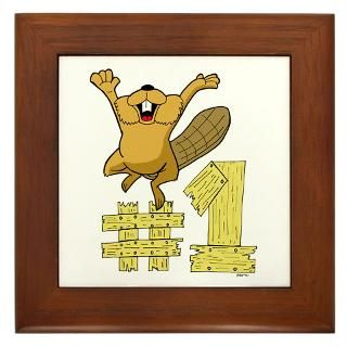 Number One Cartoon Beaver  Cartoon Animal T Shirts and GiftsCartoon