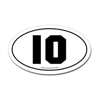 Numbers   Euro Oval Number Stickers  AutoOvals
