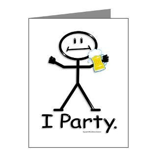 21St Birthday Note Cards  Beer Stick Figure Note Cards (Pk of 10
