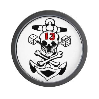 Lucky 13 Skull Wall Clock for $18.00