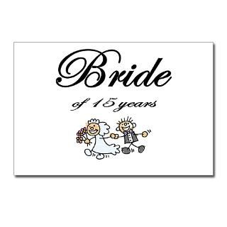 Bride of 15 Years Anniversary Gifts Postcards (Pac for $9.50