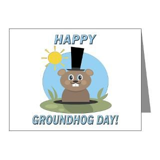 Animal Note Cards  HAPPY GROUNDHOG DAY Note Cards (Pk of 20