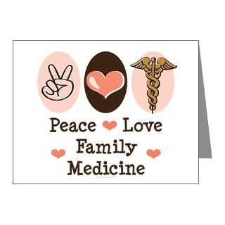 Peace Love Family Medicine Note Cards (Pk of 20) by chrissyhstudios