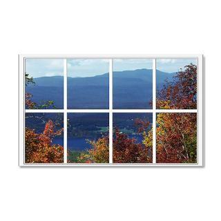 Artoffoxvox Wall Decals  Mountain View Window 38.5 x 24.5 Wall Peel