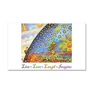 Art Wall Decals  Live Love Laugh Imagine 38.5 x 24.5 Wall Peel