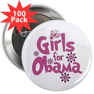 2012Meterproobama Buttons > Girls for Obama 2.25 Button (100 pack