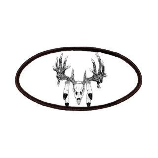 European Skull mount with eagle feathers Patches for $6.50