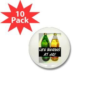 LIFE BEGINS AT 40 #3 Mini Button (10 pack) for $20.00
