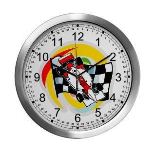 Formula One Race Car/Checkered Flag Wall Clock for $42.50