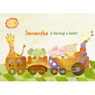 Cute Baby Animals Baby Shower Invitation invitation