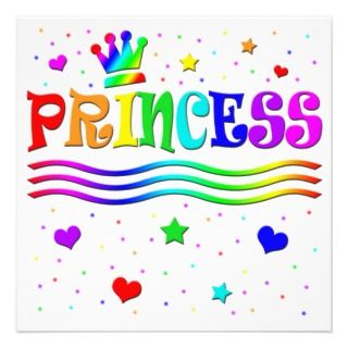Clip Art Princess Girl Birthday Party invitations by kidsclipart