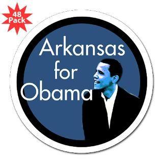 Arkansas for Obama Lapel Sticker (48 pk)