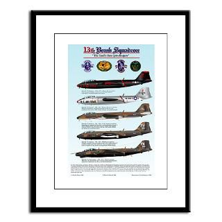 13th Bomb Squadron B 57 Large Framed Print  13th Bomb Squadron